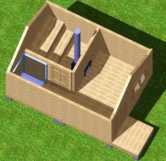 3D-модель бани