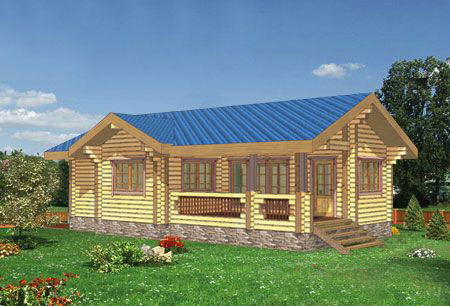 3д модель деревянного дома