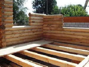Балки деревянного основания