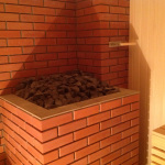 Банная печь из кирпича