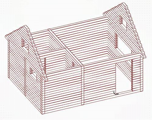 Баня 3х4 – вид сверху