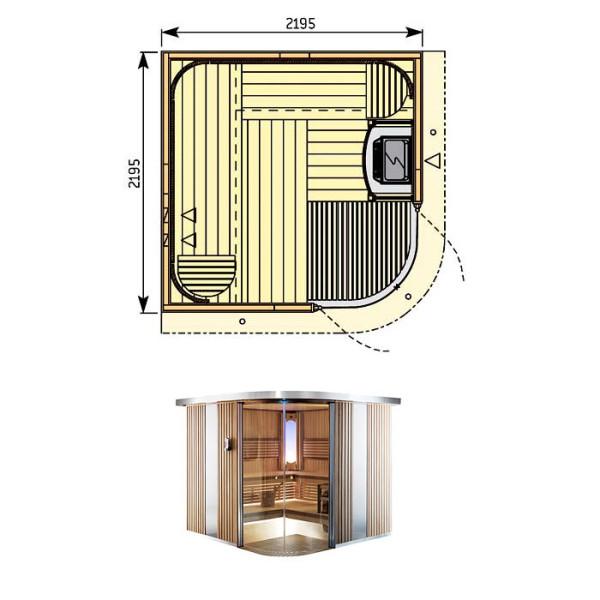 Баню малой площади можно собрать и своими руками, но инструкция обязательно должна включать подробный чертеж всей конструкции с указанием габаритных размеров