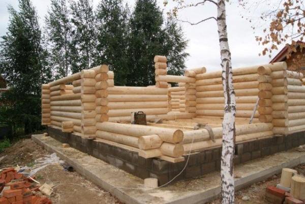 Строительство из оцилиндрованного бревна своими руками