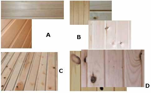 Чертежи полога для бани обязательно должны содержать информацию о качестве используемого дерева, которых насчитывается четыре