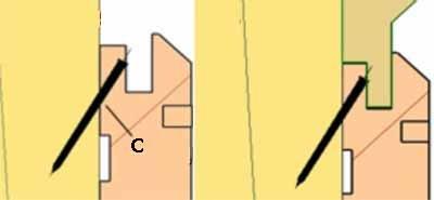 Четвёртый способ, самый сложный – гвоздями, но через шип и под углом