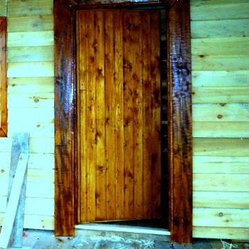 Дверь в парную своими руками из досок
