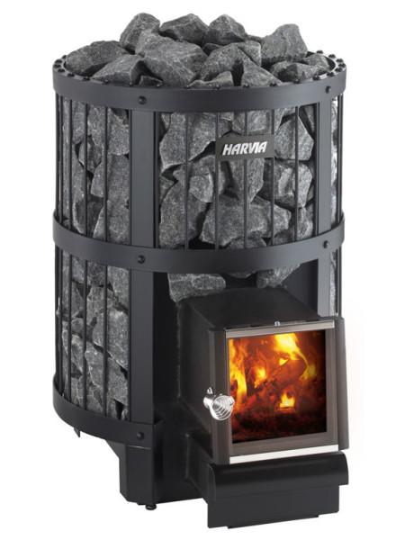 Дровяная печь- каменка с выносной топкой Harvia .