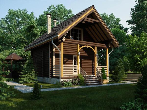 Два этажа – практично для небольших участков