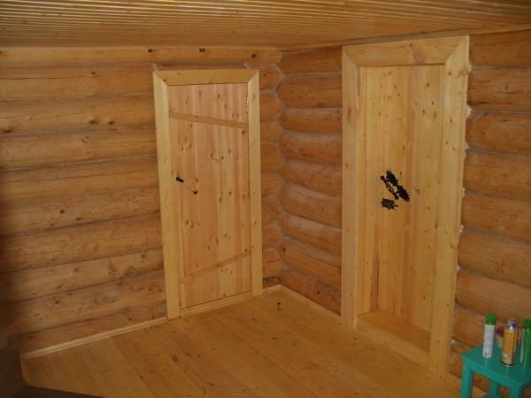 Двери, собранные на шпонках