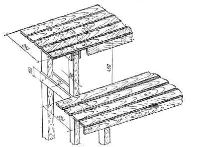 Двухъярусная ступенчатая модель