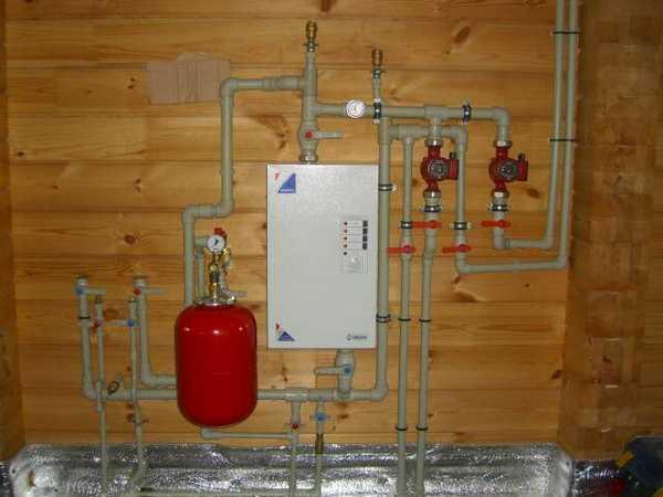 Если к участку подведен газ, то система отопления бани может быть устроена с его помощью.