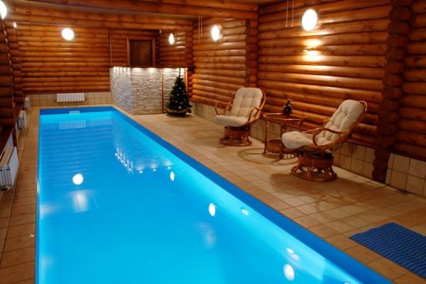 Фото бассейна в бане.
