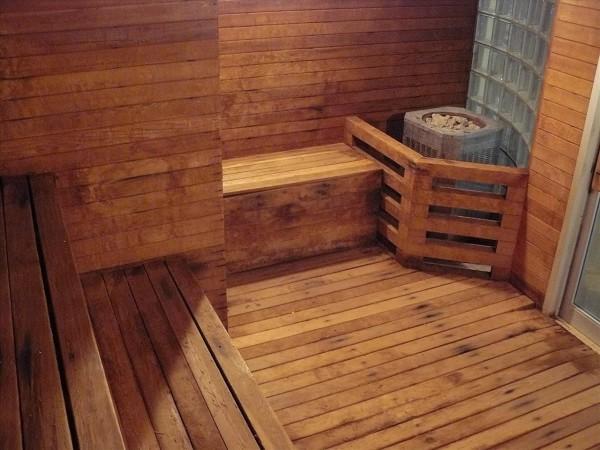 Фото деревянного пола в парной