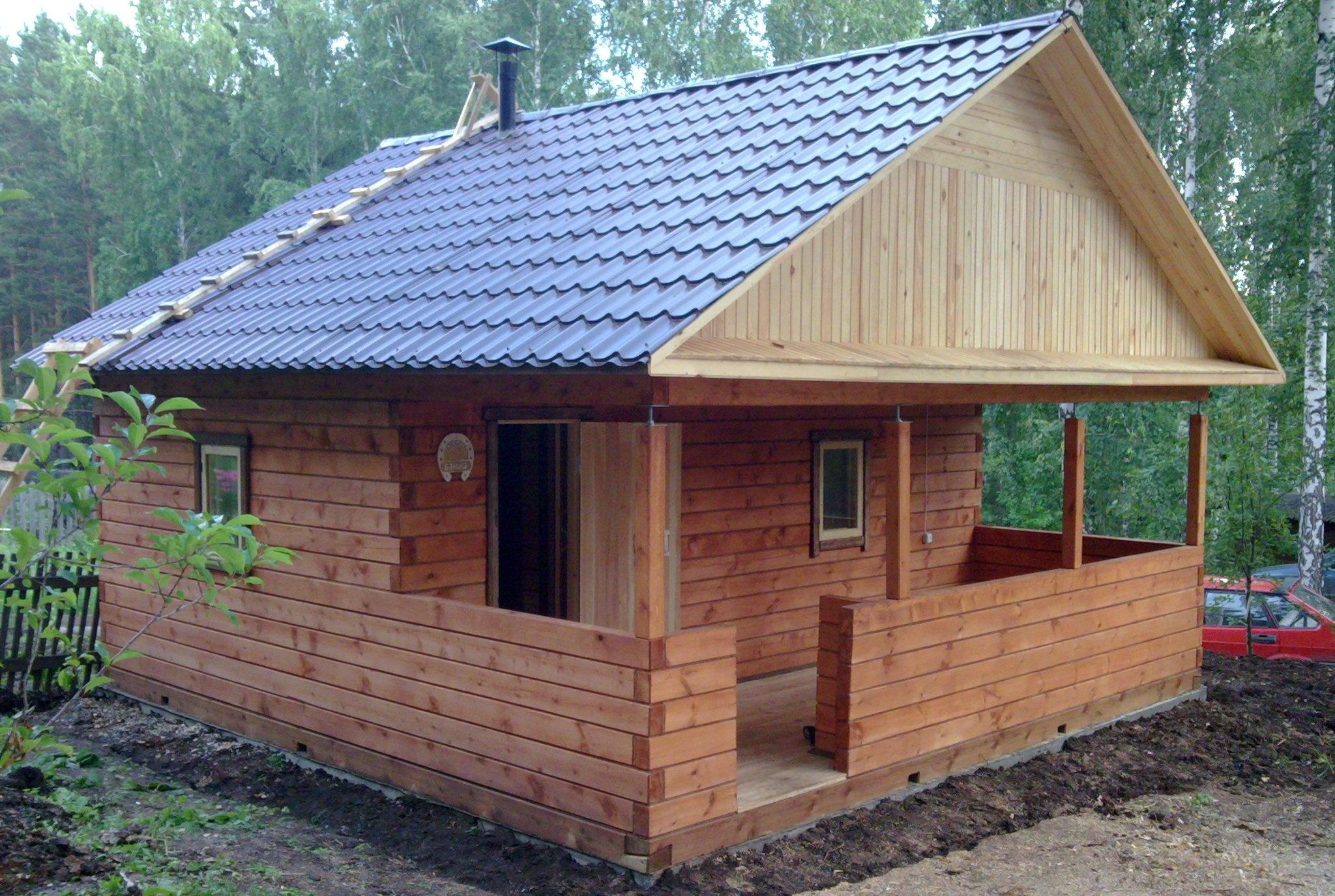 Строительство бани деревянной своими руками