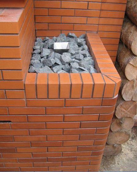 Фото каменки из кирпича.