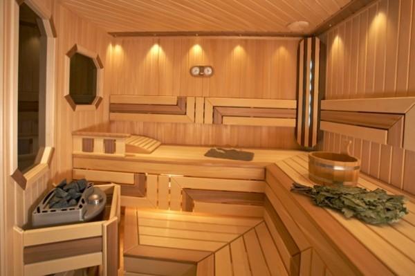 Фото внутреннего обустройства деревянной баньки