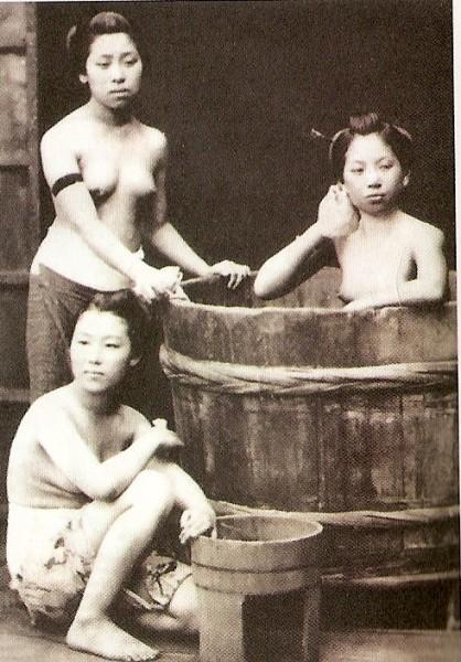 Фото японской бани.
