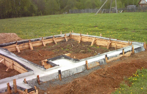 Фундамент для бани с печкой