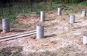 Фундамент из асбестовых труб