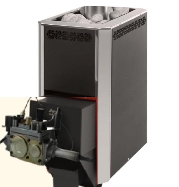 Газовый агрегат, совмещенный с печью-каменкой
