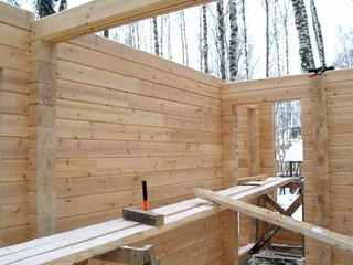 Готовые деревянные стены