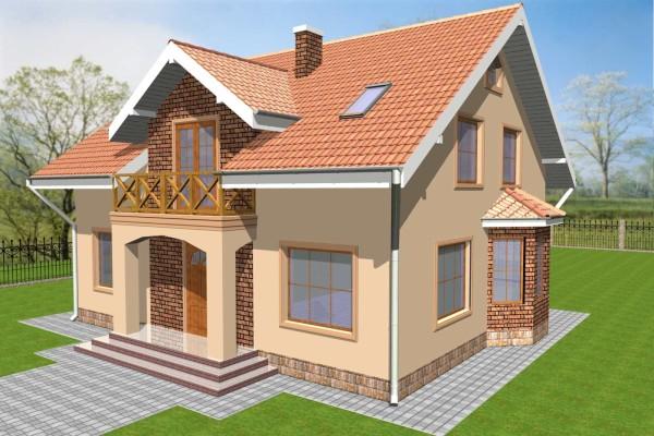 Графическое изображение дома построенного из пеноблоков