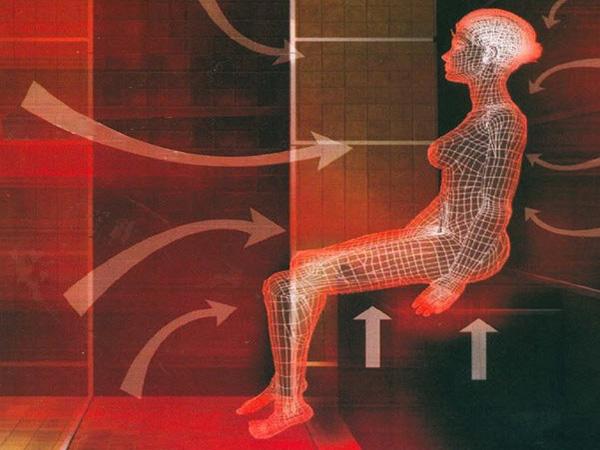 Излучение поступает равномерно по всей поверхности тела и проникает вглубь тканей.
