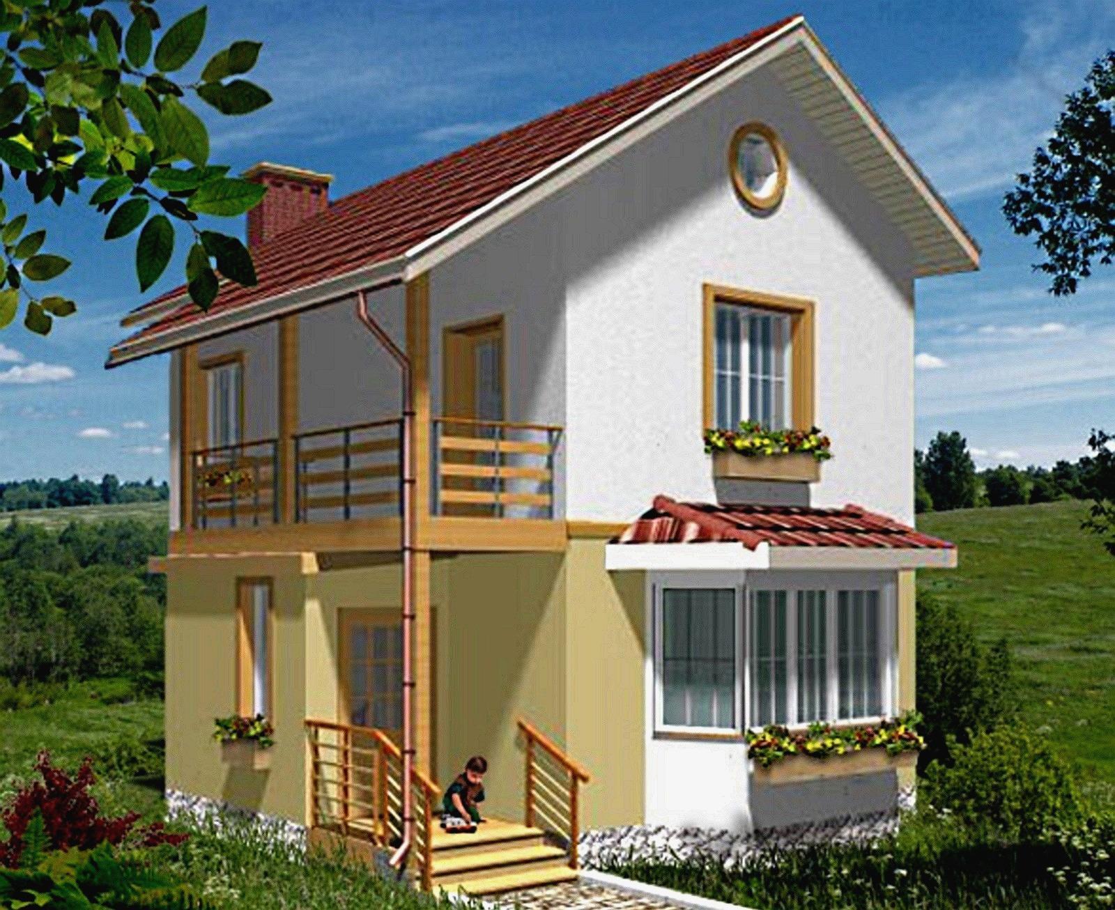 Небольшой дом с мансардой своими руками