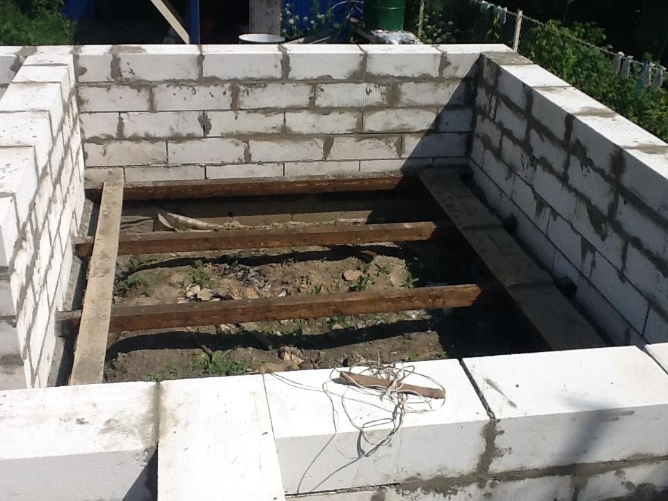 Баня на даче своими руками из блоков