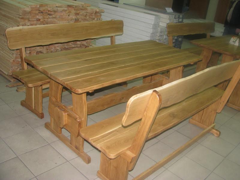 Стол для бани из дерева фото