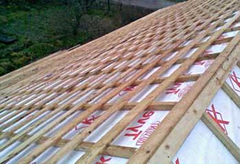 Крыша, готовая к кровельному материалу