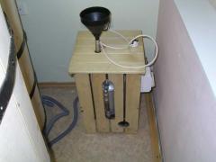 Любительское фото переносного парогенератора, который предназначен для работы в небольших помещениях