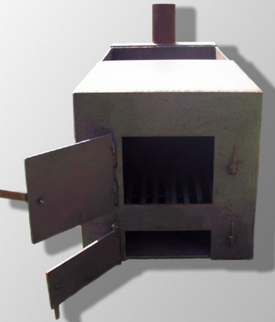 Металлическая печка для бани