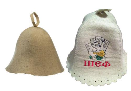 На фото – специальные банные шапочки