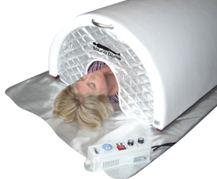 На фото другой вариант использования инфракрасного излучения, когда всё предельно подчинено максимальному отдыху