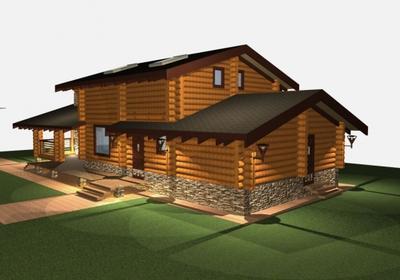 На фото изображена баня, пристроенная к жилому дому (совмещенная конструкция), для которой нужно разрешение.