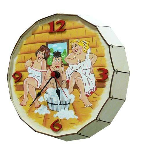 На фото изображены банный измеритель времени с ноткой юмора, сделанный своими руками.