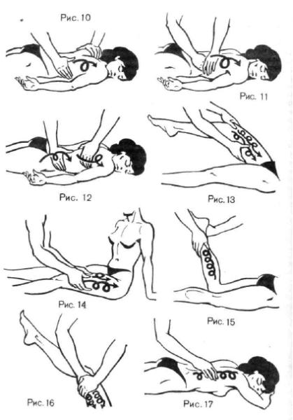 Некоторые приемы массажа