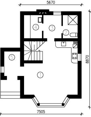 Нижний этаж дома «Борис»