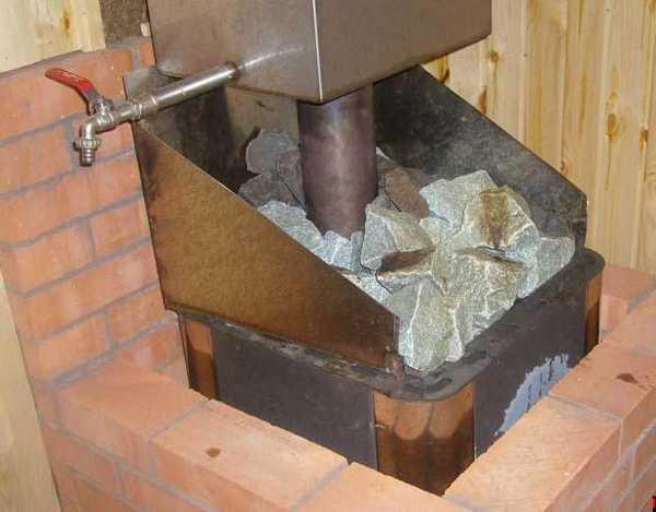 Обкладка металлической печи кирпичом
