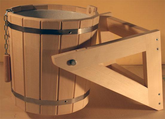 Обливное деревянное ведро для бани.