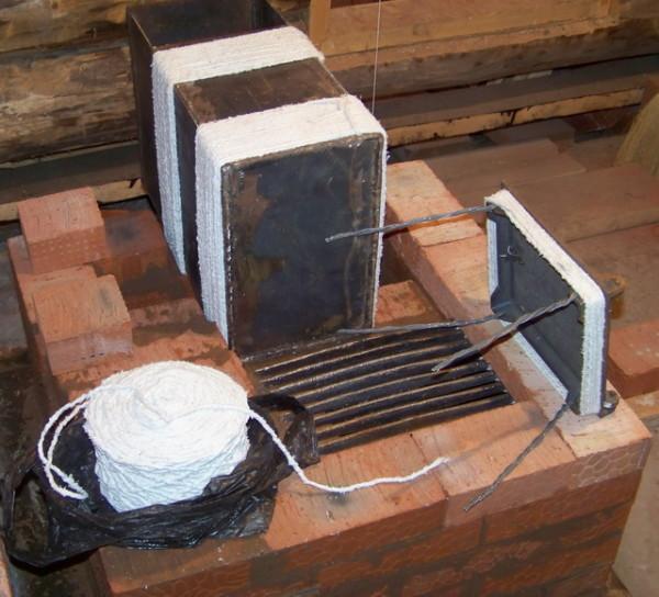 Обмотка металлических деталей асбестовым шнуром