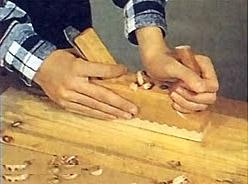 Обработка древесина.