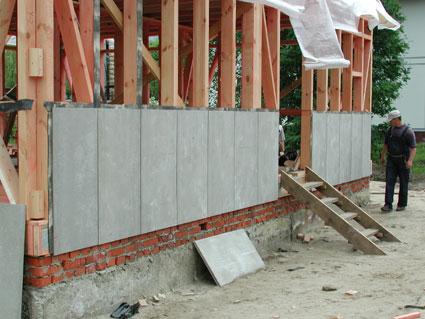 Обшивка цементно стружечными плитами