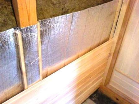 Обшивка внутренней поверхности стен в парилке