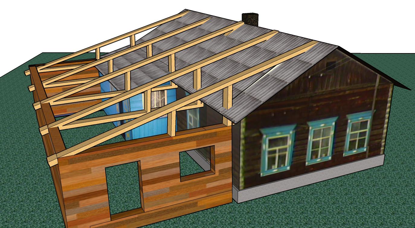 Как сделать крышу на пристройку к дому своими руками