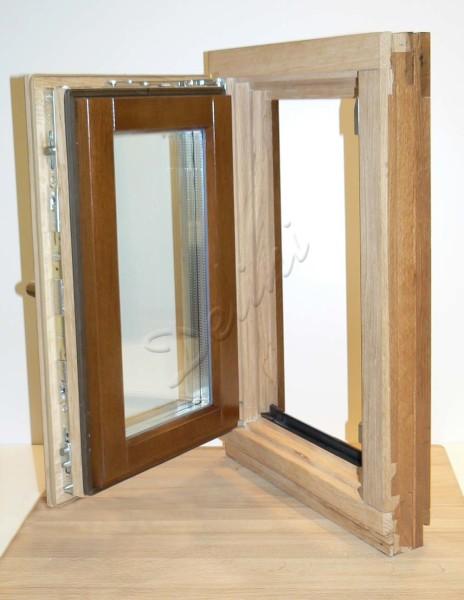Окно для парной с распашной фрамугой