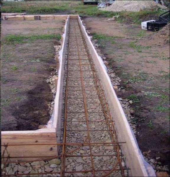 Опалубка, готовая к заливке бетона