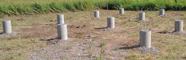 Основание из бетонных опор