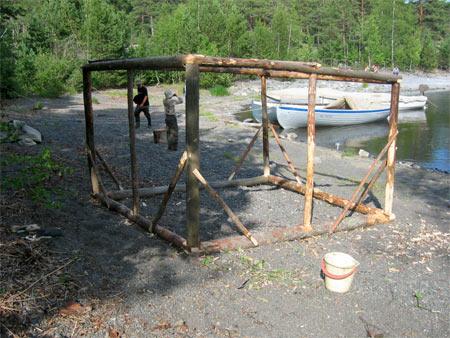 Каркас для бани палатки своими руками 28